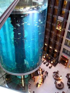 This tank (in Berlin) is 75' high and holds just under 238,000 (!) gallons of water!
