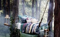 Big hammock bed in the forest!