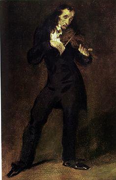 Eugène Delacroix, Portrait of Niccolò Paganini (1831)