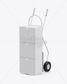 Hand Truck With Boxes Mockup - Half Side View. Present your design on this mockup. Simple to change the color of different parts and add your design. Includes special layers and smart objects for your creative works. Box Mockup, Creative Words, Side View, Packaging Design, Your Design, Change, Templates, Bottle, Color