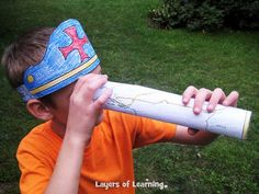 The Columbus Day craft is a Columbus Hat and Spyglass - Totally printable and totally free, of course.