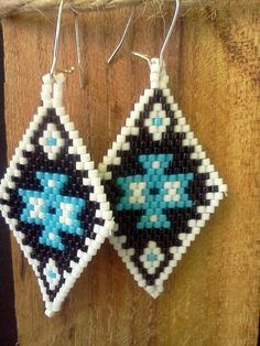 Items similar to Authentic Native American Beaded Earrings on Etsy