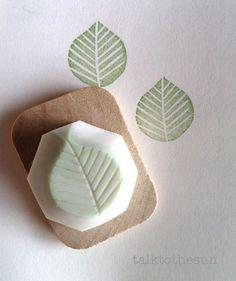 potato leaf stamp towel - Google Search