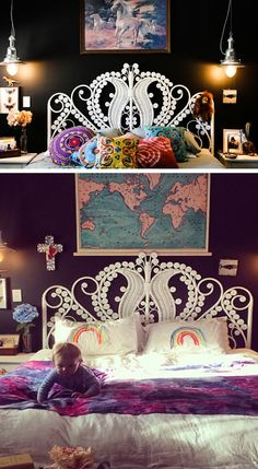 Queen Peacock Headboard | Click Pic for 21 DIY Bohemian Bedroom Decor Ideas for Teen Girls | DIY Dorm Room Ideas for Girls