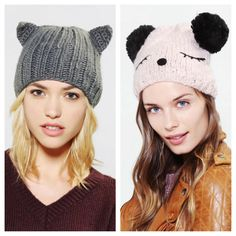 29. Winter Wear Gear: Animal Ears Beanie These beanies are adorable and keep you warm! So don't be afraid to add some fun to your accessories this winter. (Urban Outfitters)