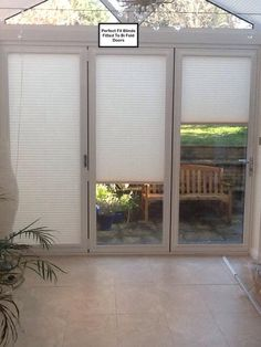 Pleated Perfect Fit Blinds Fitted To Bi Fold Doors.