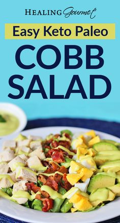 Looking for a quick and delicious Cobb Salad recipe, that's Paleo & Keto Friendly Too? Read on! Pre Cooked Chicken, No Sugar Foods, Diets For Beginners, Great Appetizers, Paleo Recipes, Easy Recipes, Clean Eating Recipes, Cobb Salad, Kids Meals