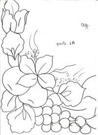 pinterest riscos de pintura em tecido - Pesquisa Google #pinturadecorativa Pintura Tole, Embroidery Patterns, Hand Embroidery, Painting Templates, Glass Engraving, Fruit Pattern, China Painting, Black And White Design, Fabric Painting