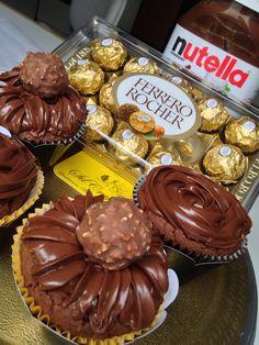 Cupcake de Nutella com Ferrero Rocher