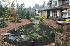 Rain #gardens are perfect for any #lawn. You don't have to water them, you save cash on your #utility bills, and they add interest to your #yard.