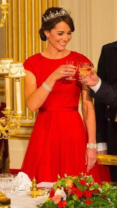 Catherine wearing the lotus tiara at the China state visit
