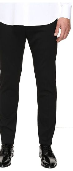 DSQUARED2 Admiral Chic Fit Stretch Wool Pants (Black) Men's Casual Pants - DSQUARED2, Admiral Chic Fit Stretch Wool Pants, S74KB0009-S42916-900, Apparel Bottom Casual Pants, Casual Pants, Bottom, Apparel, Clothes Clothing, Gift, - Street Fashion And Style Ideas