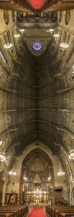 NY CHURCHES -- A UNIQUE PERSPECTIVE BY RICHARD SILVER, VIA BEHANCE   Panorama  Stretched/Wide  Symmetry  Vertical  Surreal