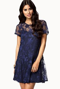 Botanical Mesh Lace Dress | FOREVER 21 - 2055262343