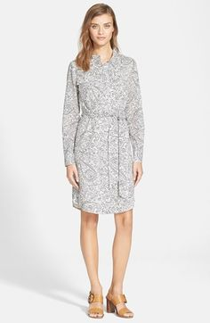 Tory Burch 'Brigitte' Print Shirtdress available at #Nordstrom