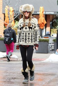 Snow Day! See How Your Favorite Celebs Brave The Elements via @WhoWhatWear