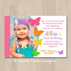 Butterfly Birthday Invitation  DIY Printable by printablecandee, $10.00