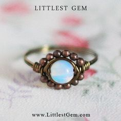 Handmade Wire Wrapped Rings | Opalite Boho Ring, wire wrapped jewelry handmade, wire wrapped ring ...
