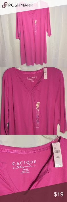 63194cc817 Cacique 18 20 sleepshirt pajamas Cacique brand sleepshirt nightgown pajamas.  Medium pink color. Photographed with and without flash for most accurate  color ...