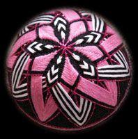 Temari Ball Designs   Temari #200912 - HOT Pink I
