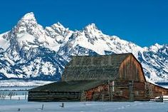 old barns in winter - Google Search