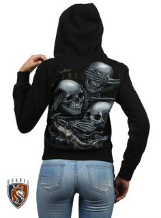 Stay cozy while looking cool with punk, indie, and tattoo hoodies, sweaters, and sweatshirts from Inked Shop. Our edgy outerwear comes in many styles. Skull Fashion, Punk Fashion, Rock Elegante, School Outfits Tumblr, Affliction Clothing, Tattoo Clothing, Diy Clothing, Aesthetic Grunge Outfit, Biker Chic