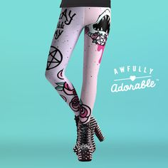 SLAY ALL DAY • Cute Pastel Shark Leggings by Awfully Adorable #sexy #fierce #pastelgoth