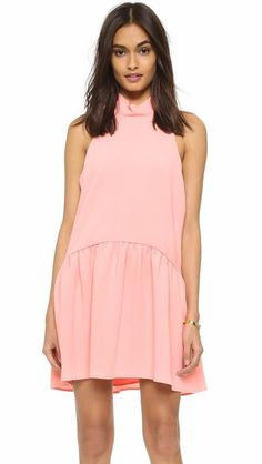 $395 Elizabeth and James Apricot Tiered Shift Baby Doll Tisha Dress L NWT E365 #ElizabethandJames #Shift #Cocktail