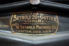 Seybold 20th Century Automatic Cutting Machine, Dayton Ohio Vintage Graphic Design, Vintage Type, Retro Design, Vintage Designs, Signage Design, Lettering Design, Hand Lettering, Vintage Typography, Typography Letters
