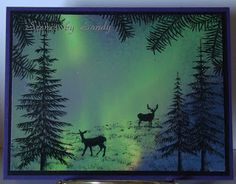 Creative Moments With Sandy: Northern Lights Photoscape with Stampscapes Rubber…