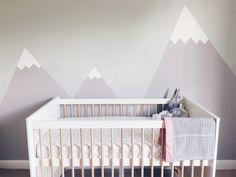 mountain mural for girls nursery