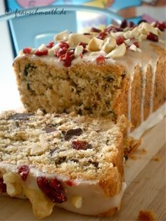 Schoko-Cranberry-Cashew-Kastenkuchen.