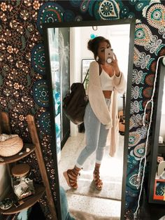 teen fashion to look cool and fashionable 3 Spring Outfits, Trendy Outfits, Winter Outfits, Lazy Day Outfits For Summer, Hippie Stil, Teen Fashion, Fashion Outfits, Fashion Styles, Fashion Women