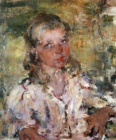 by Nikolay Feshin Nicolai Fechin, Impressionist Paintings, Oil Paintings, Portrait Paintings, Indian Paintings, 26 November, Portrait Sketches, Famous Art, Face Art