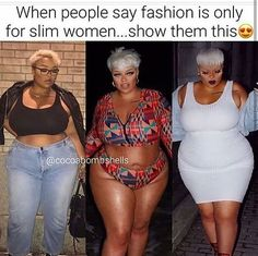 Plus Size Evening Dresses and Outfits Thick Girl Fashion, Curvy Fashion, Plus Size Fashion, Fat Fashion, Curvy Outfits, Plus Size Outfits, Trendy Swimwear, Plus Size Beauty, Beautiful Black Women