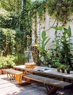Outdoor Plants, Outdoor Rooms, Outdoor Gardens, Outdoor Living, Outdoor Decor, Small Courtyard Gardens, Dream Garden, Home And Garden, Jardin Decor