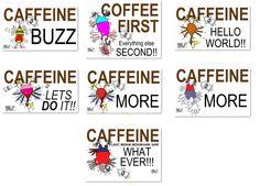 Caffeine  #t-shirt #coffeecup #merchandise Fulfillment Services, Coffeecup, Funny Birds, Lets Do It, Caffeine, Cartoons, Prints, Shirt, Cup Of Coffee