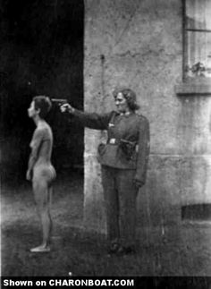 Nazi women of the SS. This breaks my heart.  (I would love to see this MF go against a biker chick)