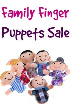 Family Finger Puppets Sale: $1.84 + FREE Shipping! #puppet