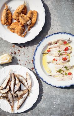 Fried anchovies recipe by Katie Caldesi Top Recipes, Burger Recipes, Pasta Recipes, Salad Recipes, Vegetarian Recipes, Dessert Recipes, Thanksgiving Recipes, Holiday Recipes, One Pot Meals
