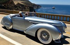 1937 Delahaye 145 Franay Cabriolet photographed on Bixby Bridge near San Simeon, south of Big Sur. Art Deco Car, Roadster, Unique Cars, Us Cars, Classic Motors, Amazing Cars, Custom Cars, Custom Classic Cars, Concept Cars