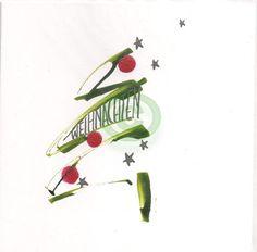 Kalligraphie-Karten - Weihnachten 001 281129 - Kalligraphiebilder Kalligraphiekarten