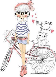 illustration sketch girl collection Illustration Art