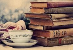 Perfect morning... coffee and books.