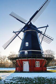 Denmark.Copenhagen, The windmill at Kastellet, Denmark