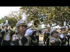 Purdue Marching Band Plays Hail Purdue on the way to the Slayter Center - YouTube