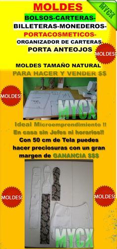 50 Moldes Bolsos Carteras Billeteras Y Más- Envio Gratis!! - $ 35,00 en MercadoLibre