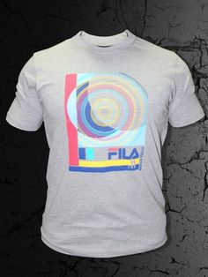 Buy T-Shirts Online | FILA Men Grey T Shirts | VOL-026 | cilory.com