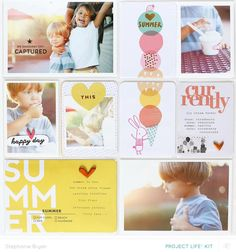 Project Life: Summer Fun par stephaniebryan à Studio_Calico. Project Life Baby, Project Life Freebies, Project Life Album, Project Life Layouts, Project Life Cards, Project Life Planner, Project 365, Studio Calico, Pocket Page Scrapbooking