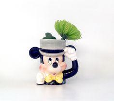 Vintage Mickey Mouse Mug - Marked Copyright Disney and Korea by VintageModernHip on Etsy